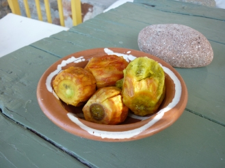 prickly pears just out of the fridge