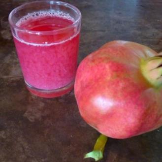 Serifos pomegranate juice home trees