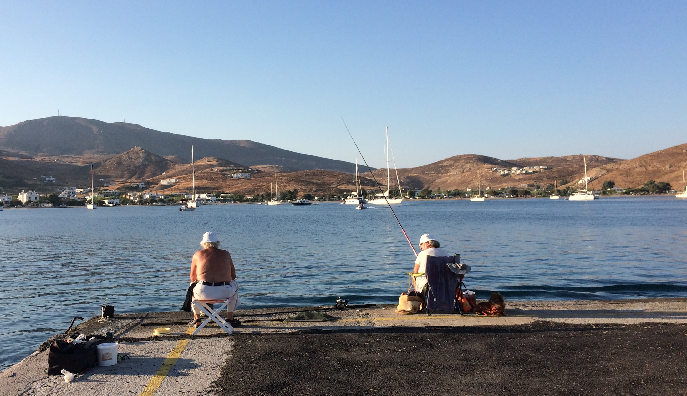 Serifos - July afternoon at the Port